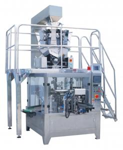 Rotary premade bag packing machine
